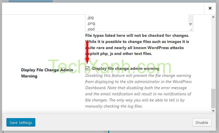 canh bao file change